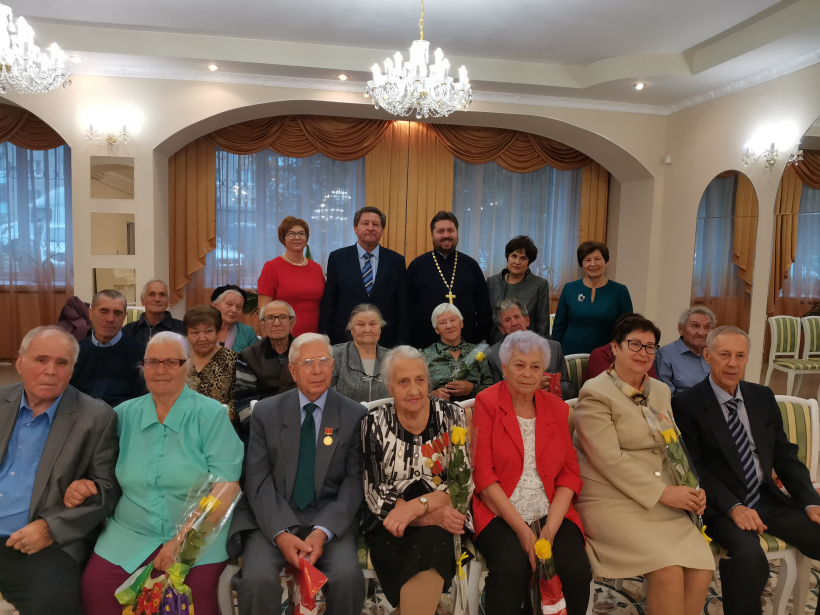 Поздравление юбиляров семейной жизни в Луховицах